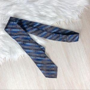 Calvin Klein Blue Silk Extra Long Men's Tie